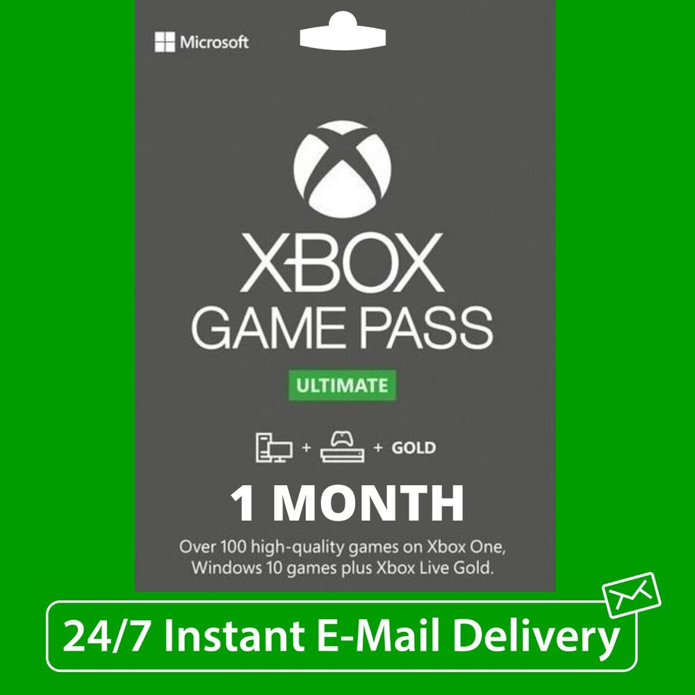 Xbox Live 1 Month Gold Game Pass Ultimate 2 X 14 Day 247 Fast Email Delivery Game Pass Xbox Live Xbox