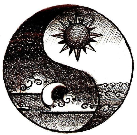 Bohemian Drawing Tumblr Google Search Yin Yang Tattoos Sonne Mond Tattoos Mond Zeichnung
