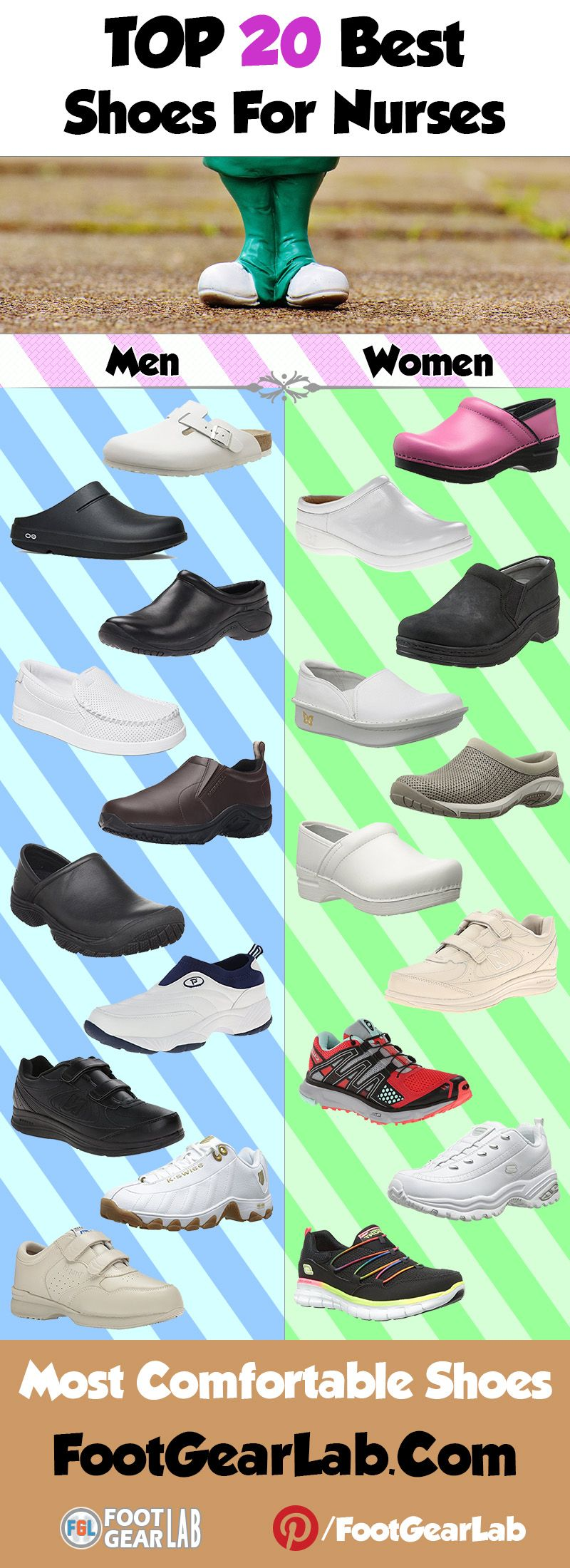 Best Shoes for Nurses - Most Comfortable Shoes. @footgearlab