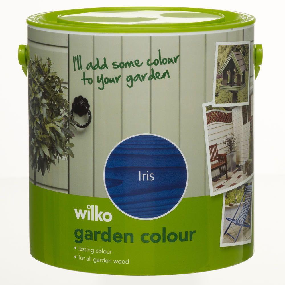 wilko garden colour iris shed fence paint. Black Bedroom Furniture Sets. Home Design Ideas