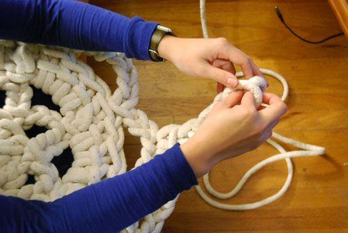 Коврик из бельевой веревки своими руками
