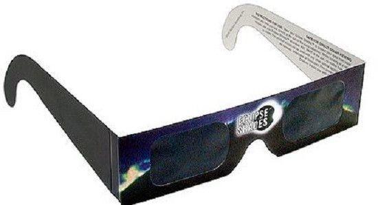 Eclipse Glasses CE Certified Safe Solar Shades Black Frame