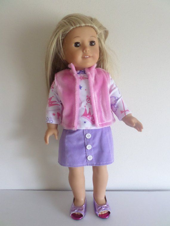 Doll Clothes fits American Girl Light Pink Can Can Skirt