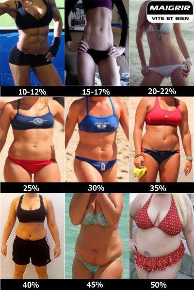 masse grasse normale femme