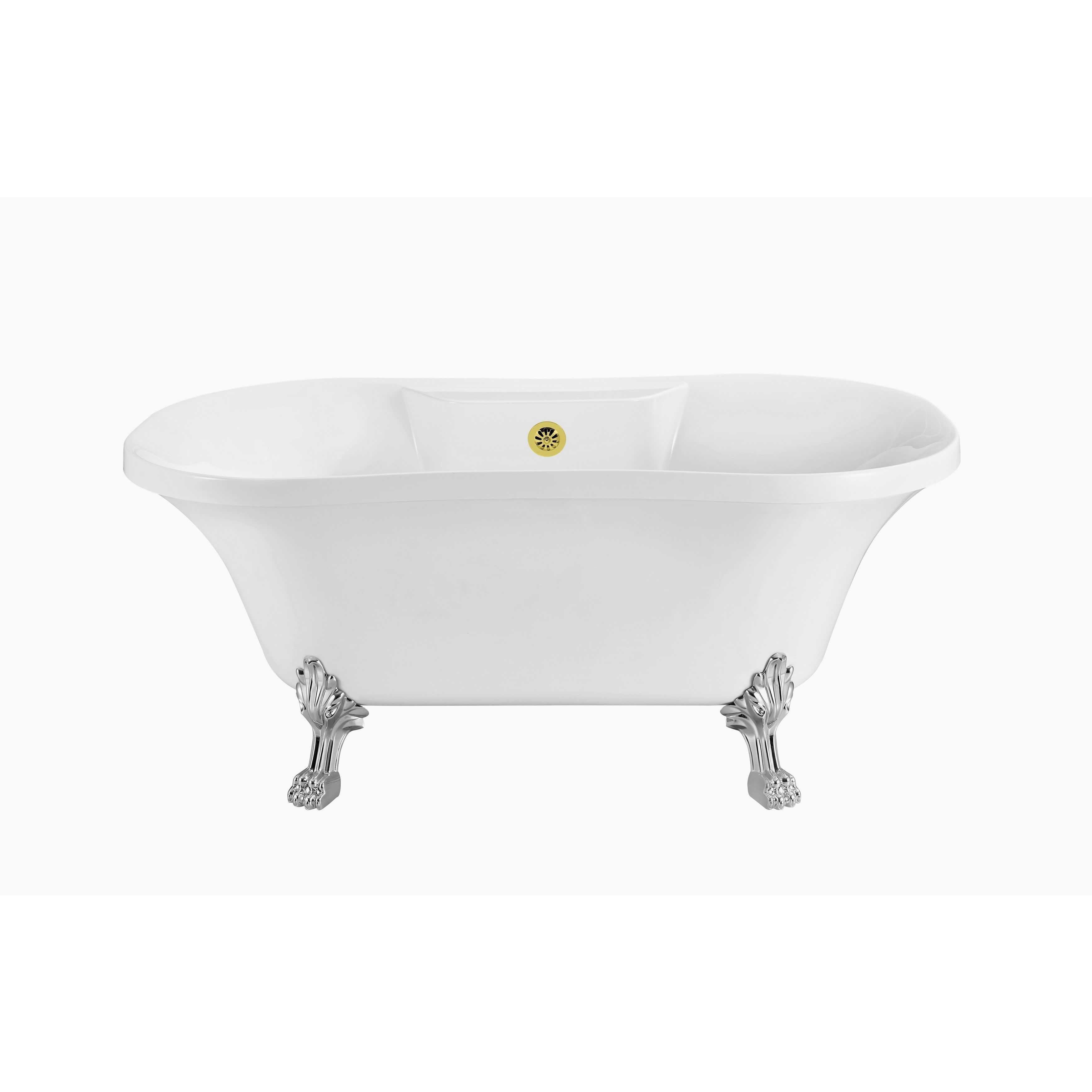 Streamline 60-inch Soaking Clawfoot Tub with External Drain (60 ...