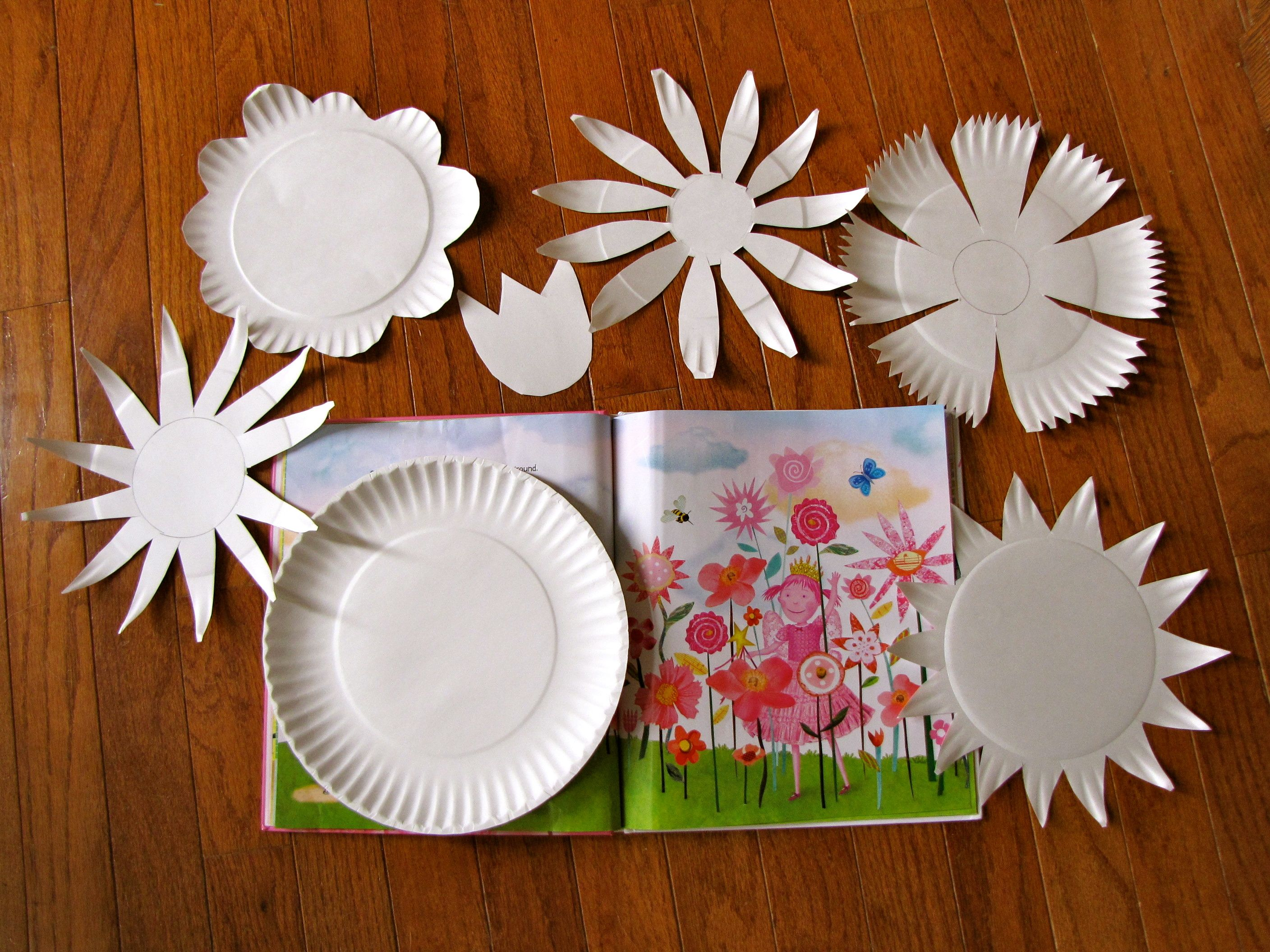 Learning With Pinkalicous Flower Crafts Crafts Paper Plate Crafts