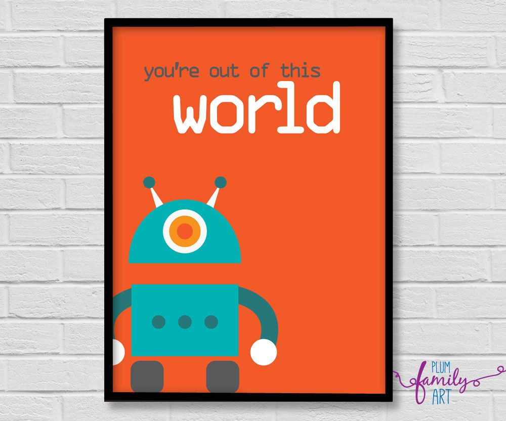 Kids Poster Poster Boys Boys Room Poster Kids Decor Robot Poster Playroom Poster Wall Art Boys By Plumfamily Playroom Posters Boy Room Poster Kids Poster