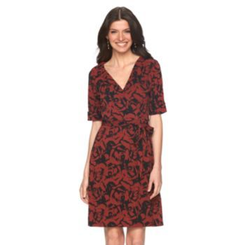 Women\'s Apt. 9 Faux-Wrap Dress | style clothes | Pinterest | Faux ...