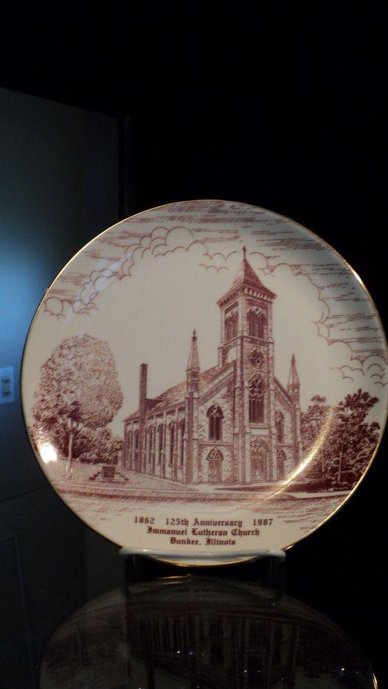 Dundee Illinois Immanuel Lutheran Church Plate 1862 1987 125th Anniversary Kane