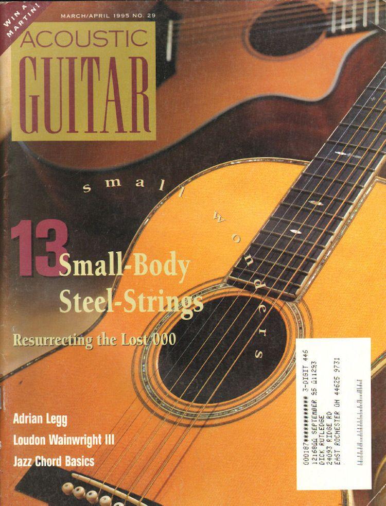 1995 March April Acoustic Guitar Magazine Back Issue Acoustic Guitar Magazine Guitar Magazine Guitar