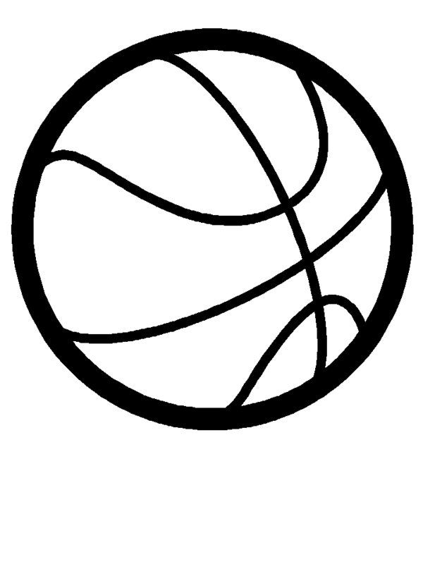 Basketball - ClipArt Best | shop | Sports coloring pages ...
