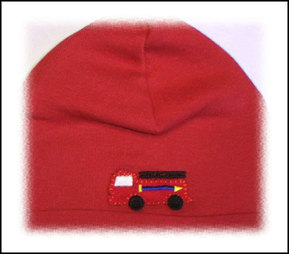 #jamierae red fire truck knit hat #babyboutique