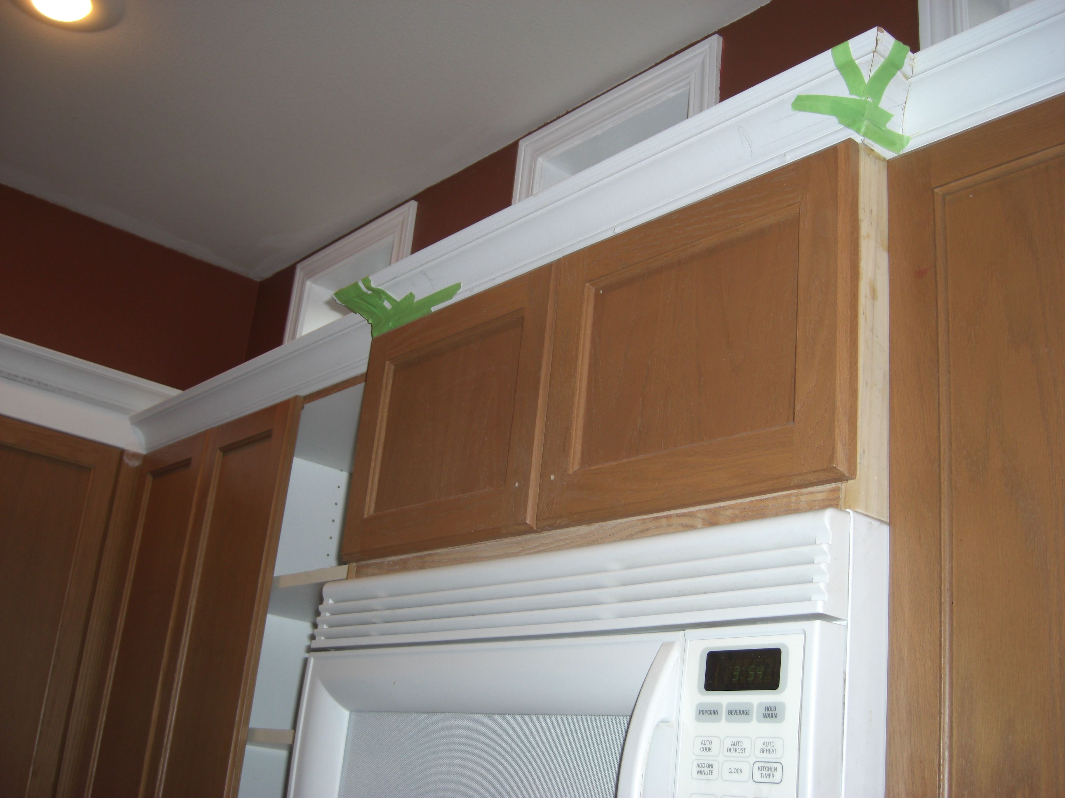 Crown Moulding Above Kitchen Cabinets Over The Range Microwave Cabinet Detail Cabinet Front Is