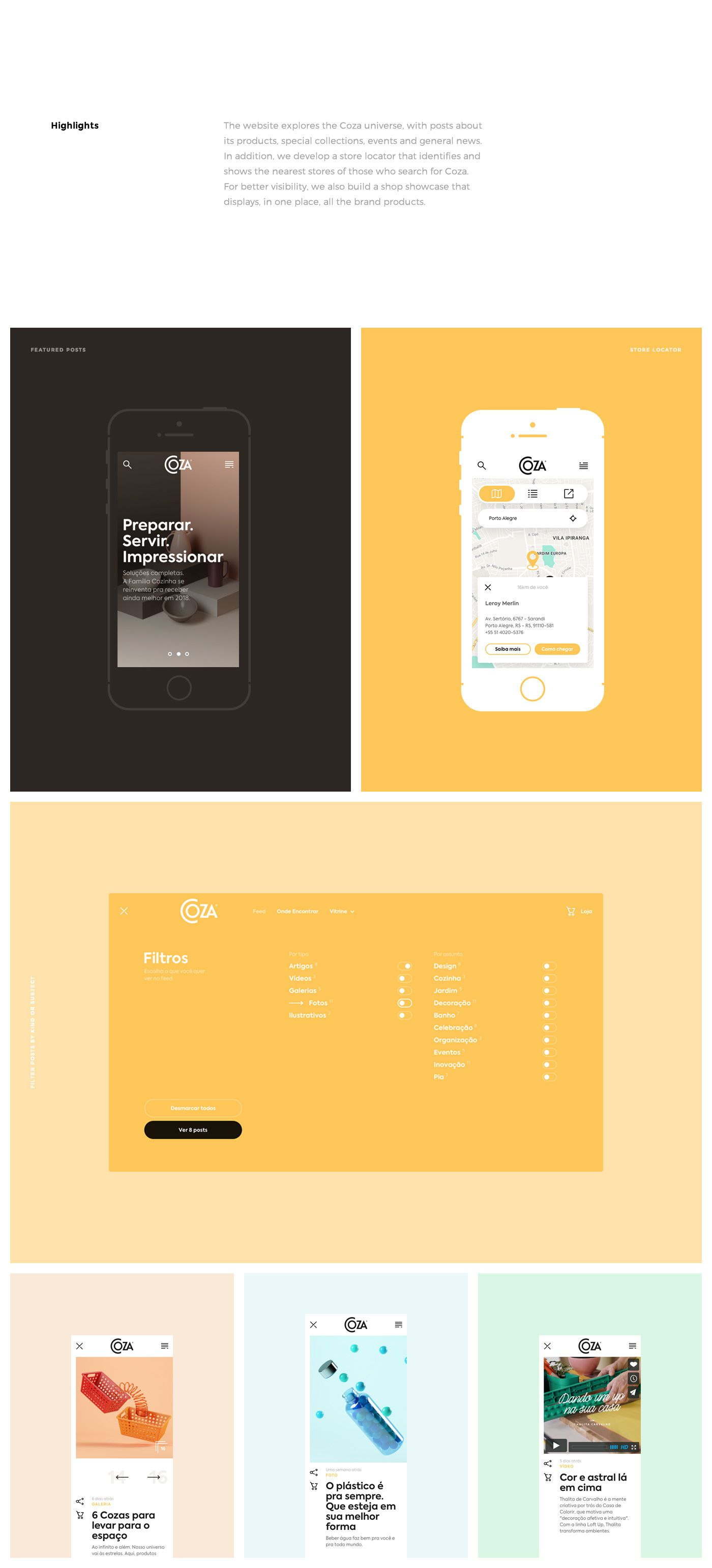 Solid Web Design Project for Coza Domestic Products | Design ...
