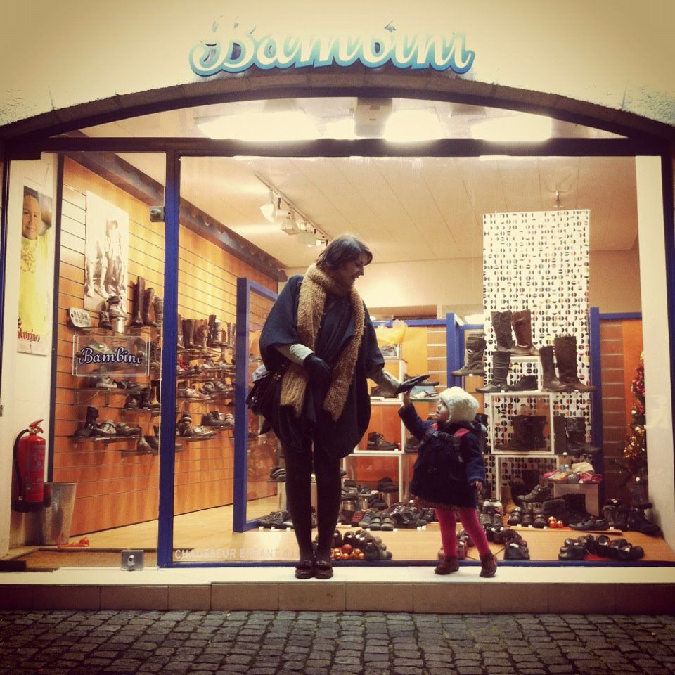 Flo and I shopping, Quimper - France