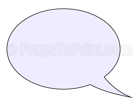 photograph relating to Speech Bubble Printable referred to as Pin through Muse Printables upon Photograph Booth Props at PropsToPrint