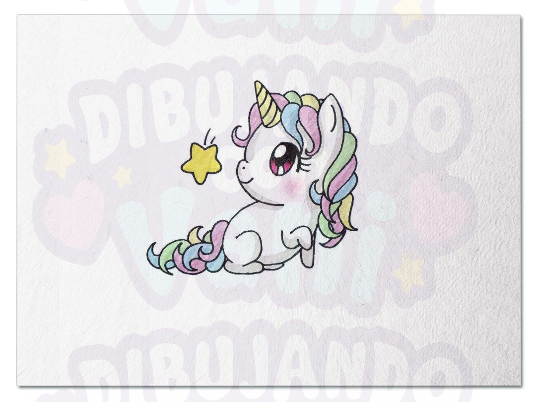 Unicornio Kawaii Con Imagenes Dibujos Dibujos Faciles
