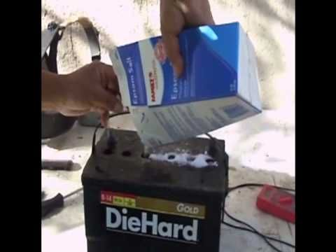 Making A Bad 12 Volt Battery Good Again For Under 5 Dollars Youtube Car Battery Batteries Diy Battery Repair