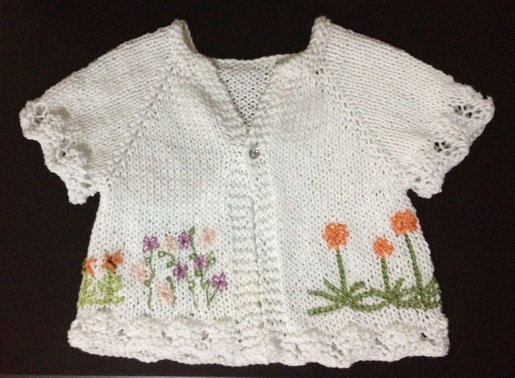 South African Flower Baby Cardigan pattern by V Vicatos | South ...