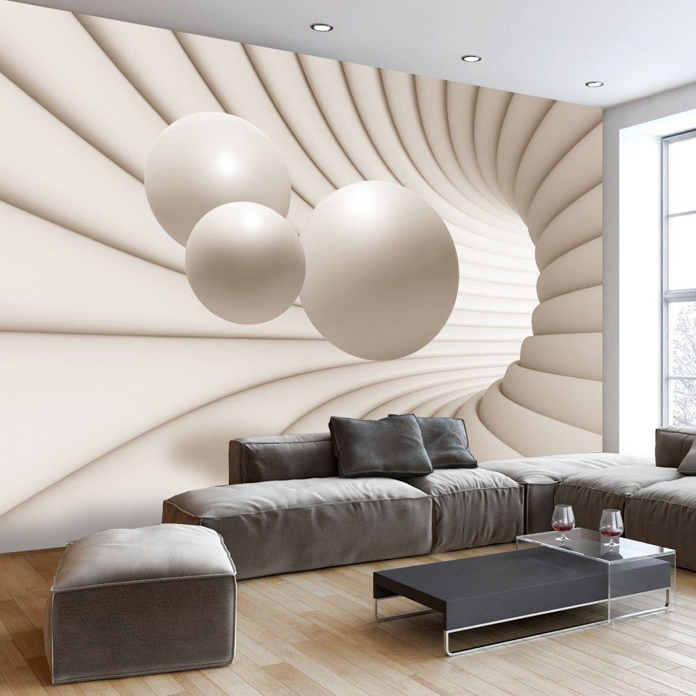Fototapetai Kamuoliai Tunelyje 3d Wallpaper Mural Wallpaper Living Room Wall Wallpaper