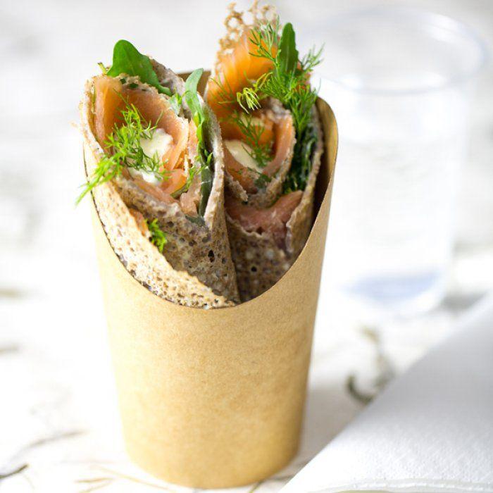 Wrap au saumon et crème de curry