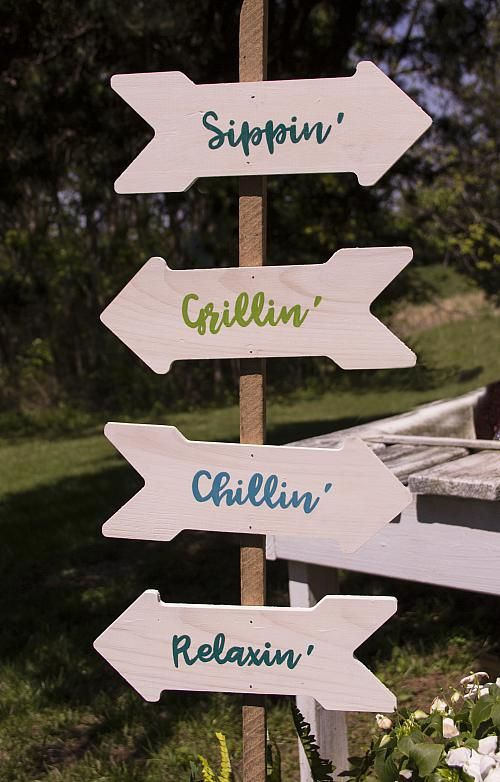 Backyard Arrow Direction Sign Make Your Own Relaxing
