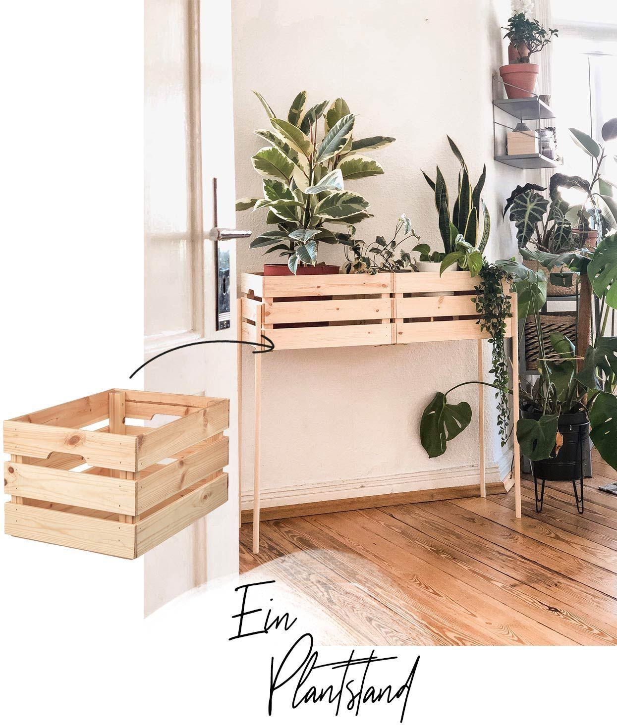 Pflanzenständer mit IKEA Kisten selber bauen – WOHNKLAMOTTE – Mein Blog