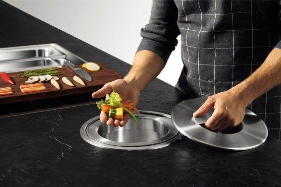 Abfallsammler BLANCO SOLON in Arbeitsplatte integriert Küche - einbau abfalleimer k che