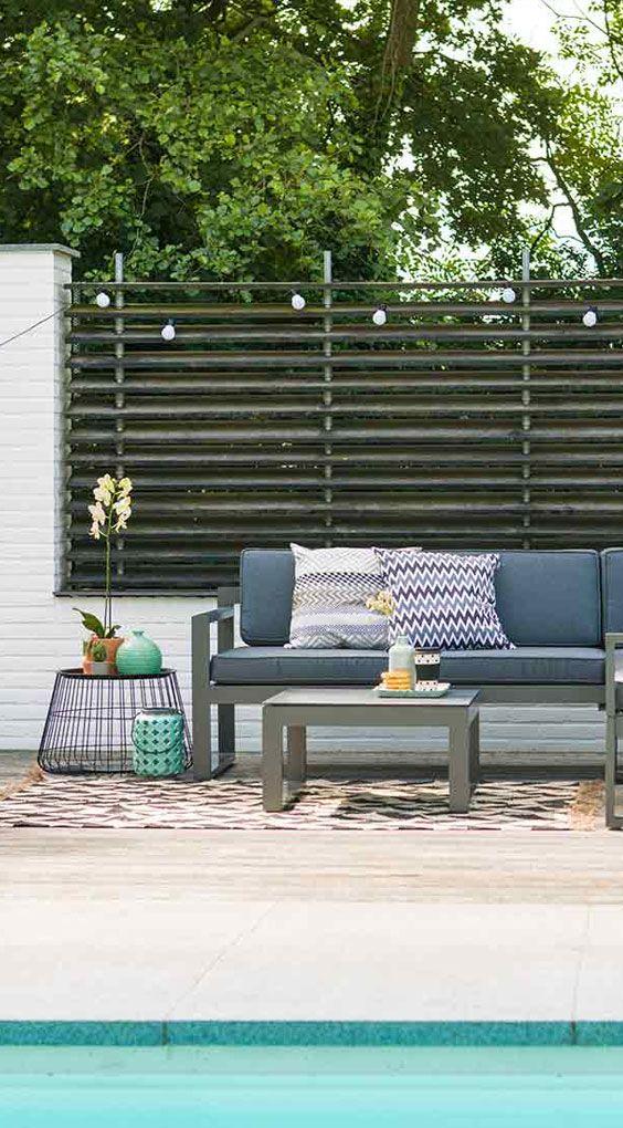 Loungemöbel Garten Hartman Perpignan Loungeset 3-teilig aus - garten loungemobel anthrazit