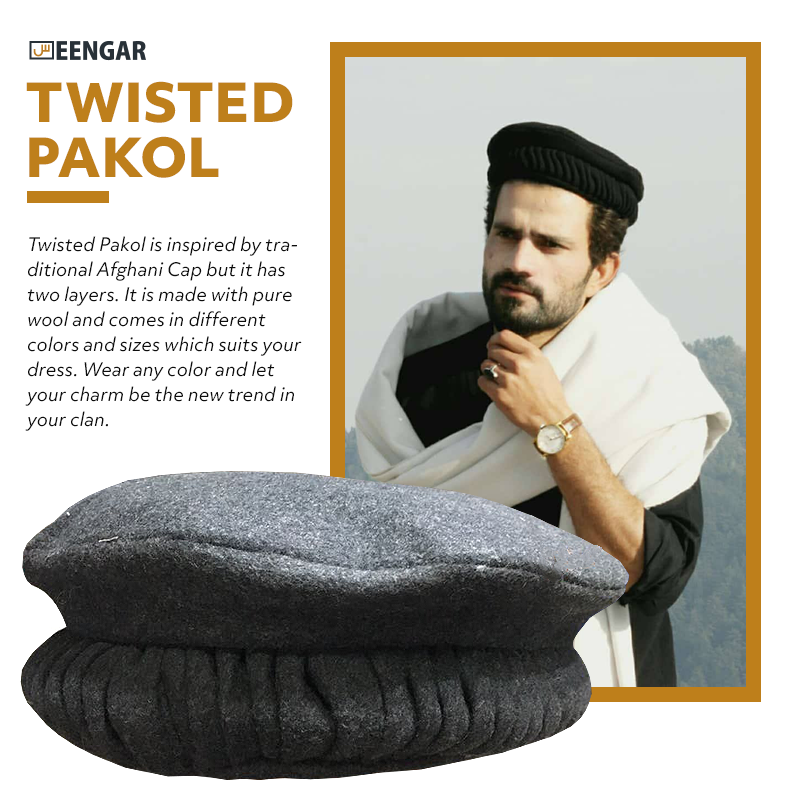Twisted Pakol is inspired by traditional Afghani Cap but it has two layers.  It is made with pure wool and comes in different colors and sizes which  suits ... 8552548043bd