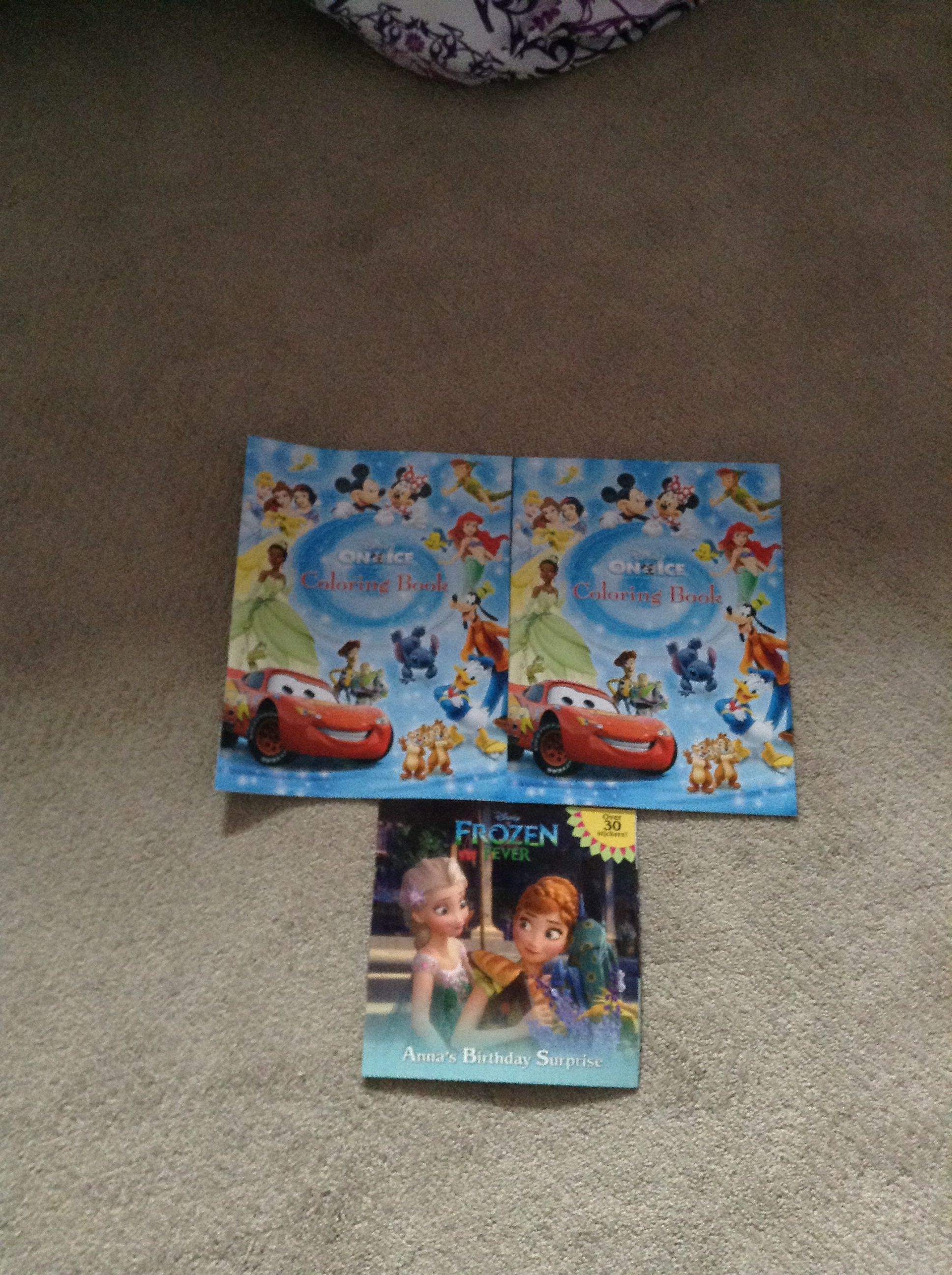 Frozen Feaver Book And Two Disney On Ice Coloring Books
