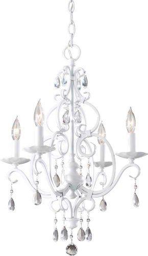 Feiss F1904 4sgw Chateau Blanc Crystal Chandelier Light 4lt 240