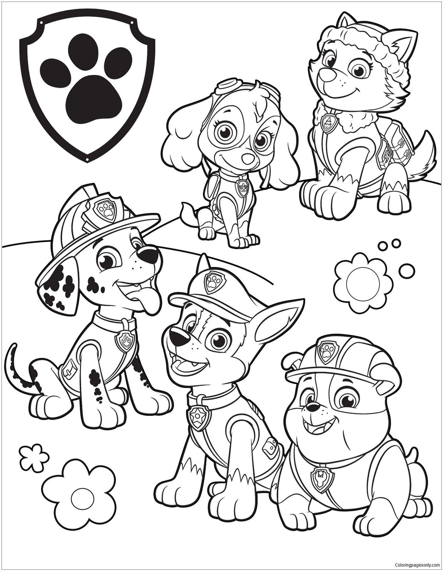 Paw Patrol Ausmalbilder Coloring Marshall And Zuma Coloring Page Kids Pages Paw Paw Patrol Ausmalbilder Malvorlagen Ausmalbilder