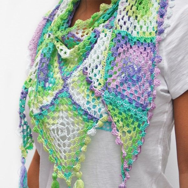 Free crochet pattern Jaipur summer scarf - Free Crochet Patterns at Yarnplaza.com