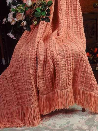 Crochet Afghan Throw Patterns Single Color Patterns Pumpkin