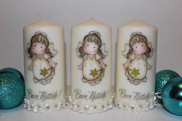 Le creazioni di Maichi: Candele decorate