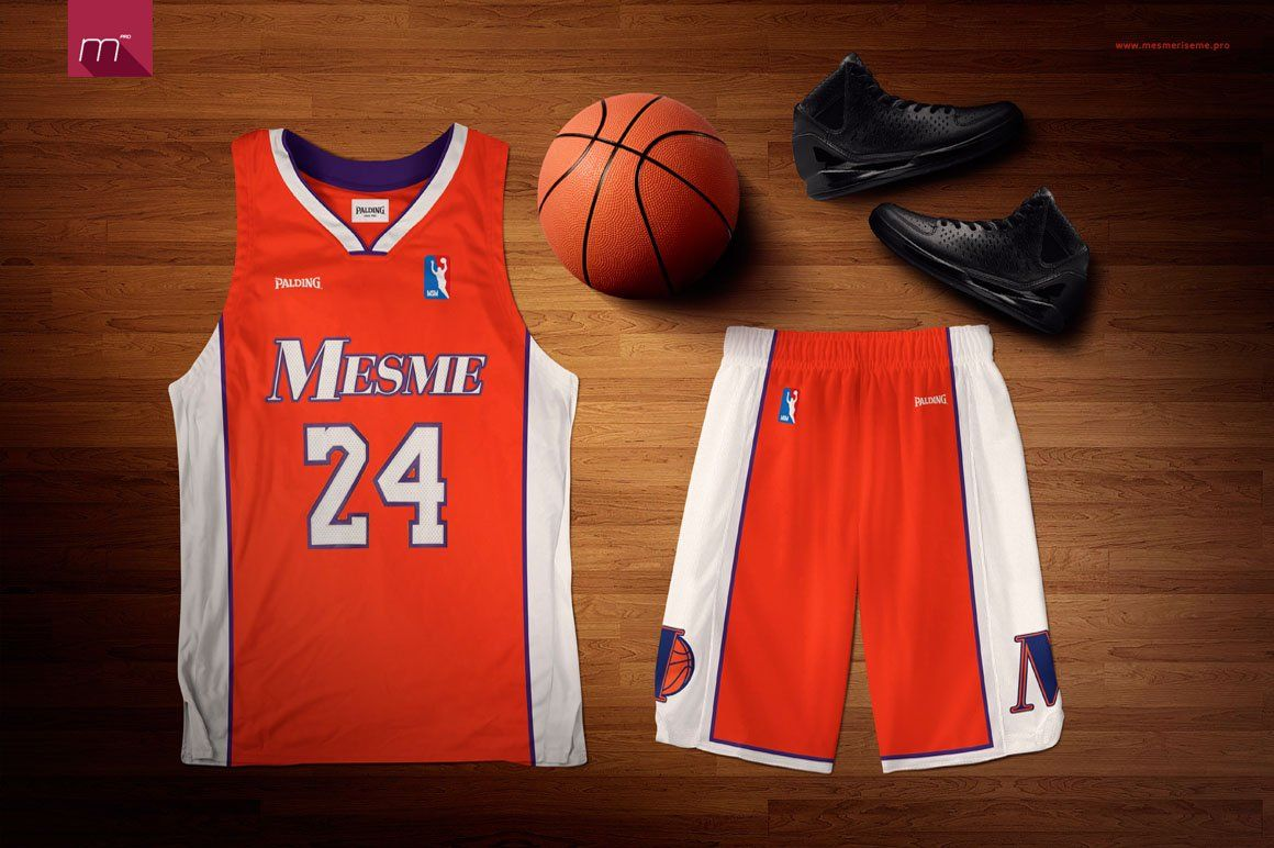 Download Basketball Uniform Mock-up | Mockup design, Basketball ...
