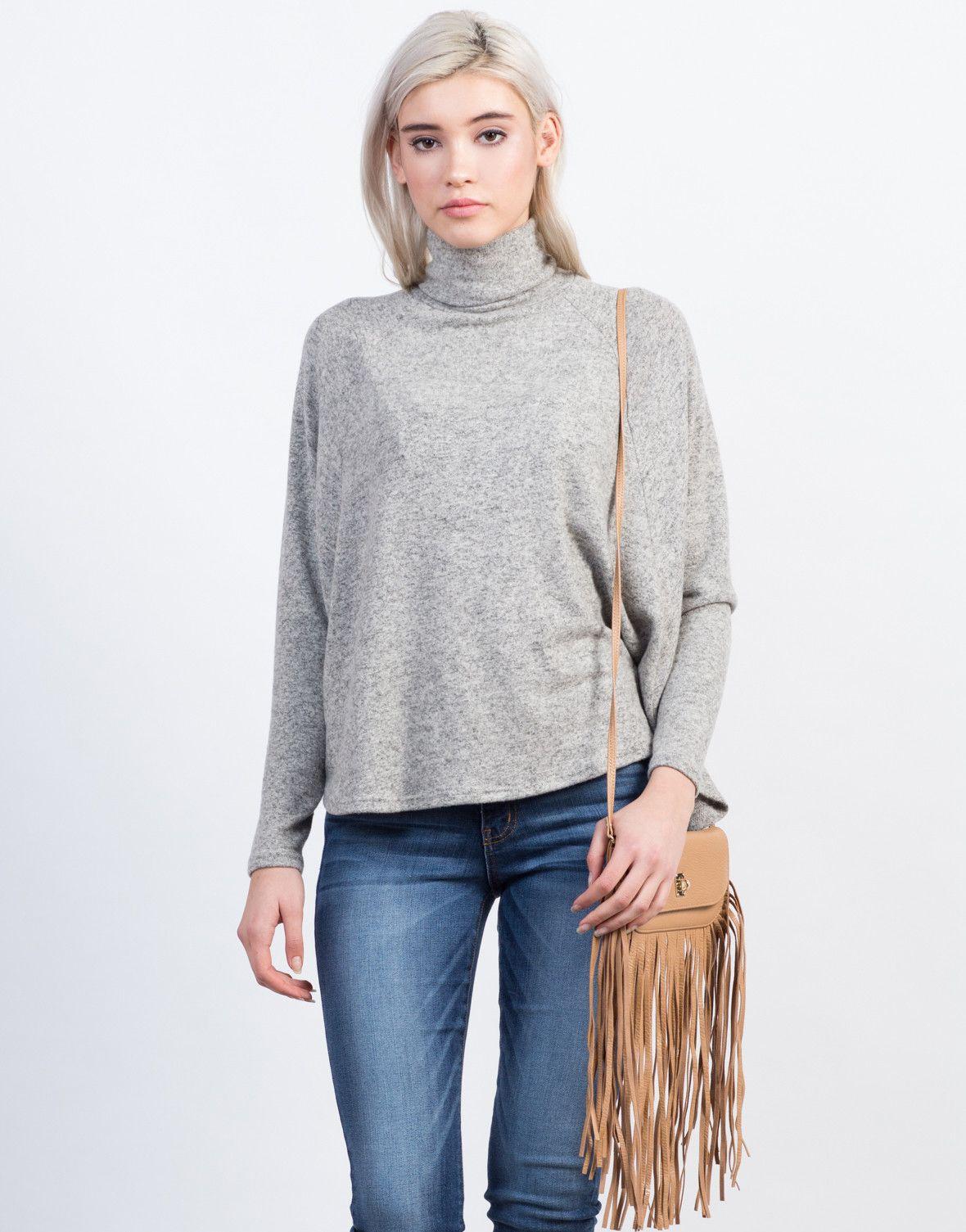 Flowy Turtleneck Top | ML - The Art Of Sweaters & Cardigans ...