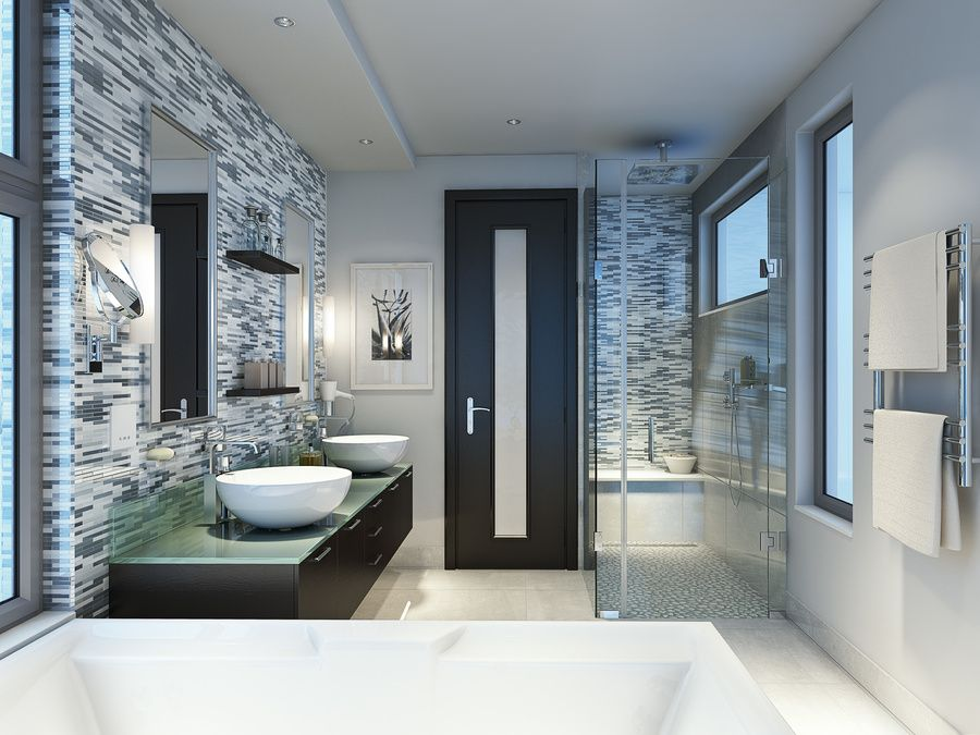 Architect Phil Darby From PDI Design Incorporated A Feature Wall Beauteous Bathroom By Design