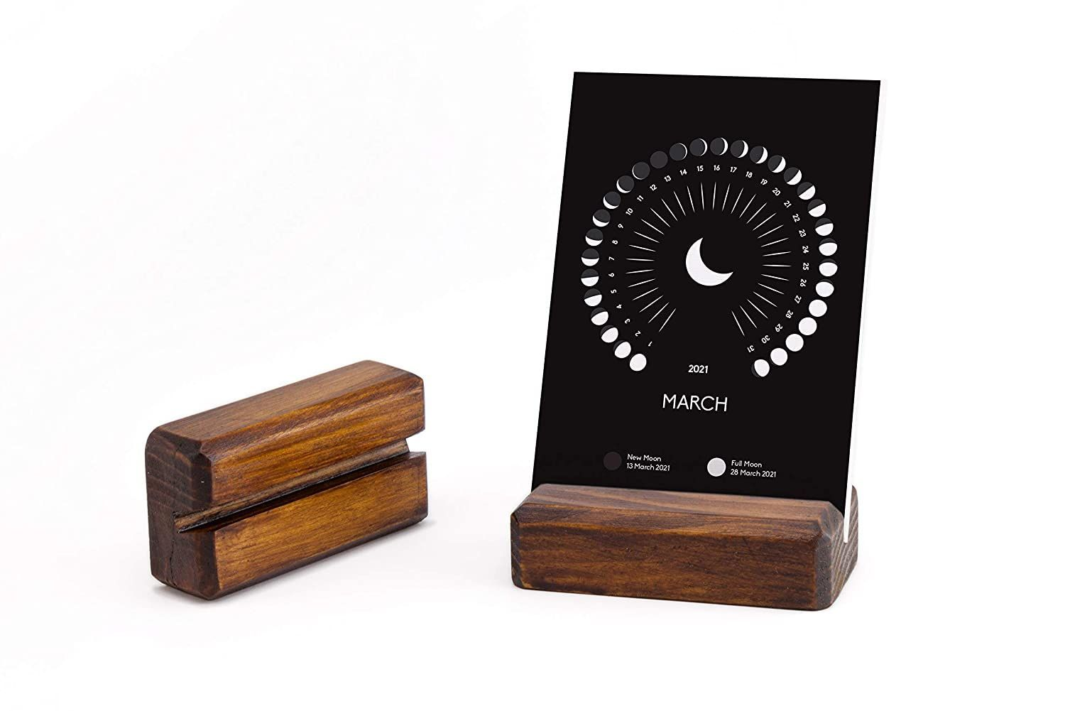 Amazon.com: 2021 Desk Calendar with Wooden Stand, 3 x 4.3 ...