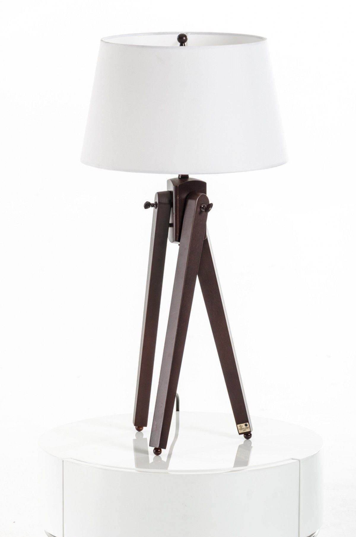 Modrest Della White And Wood Table Lamp Vgkrkm009t Wood Table