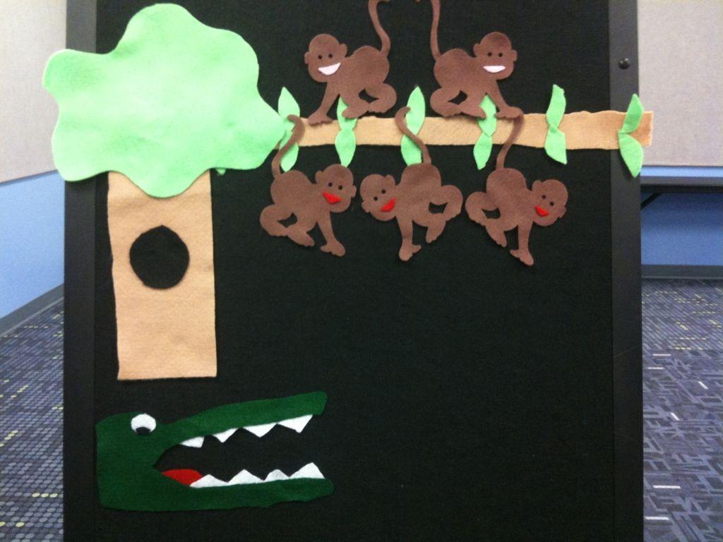 Five Little Monkeys Storytime Flannelboard