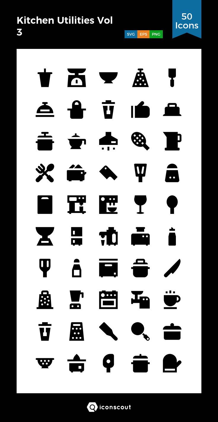 Download Kitchen Utilities Vol 3 Icon Pack Available In Svg Png Eps Ai Icon Fonts Kitchen Utilities Icon Furniture Logo