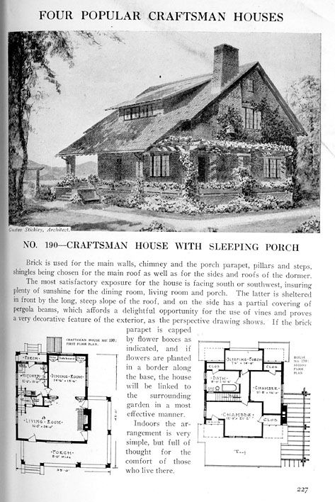 Find Old House Plans Here Historic Bungalows More Vintage House Plans House Plans Craftsman House Plans