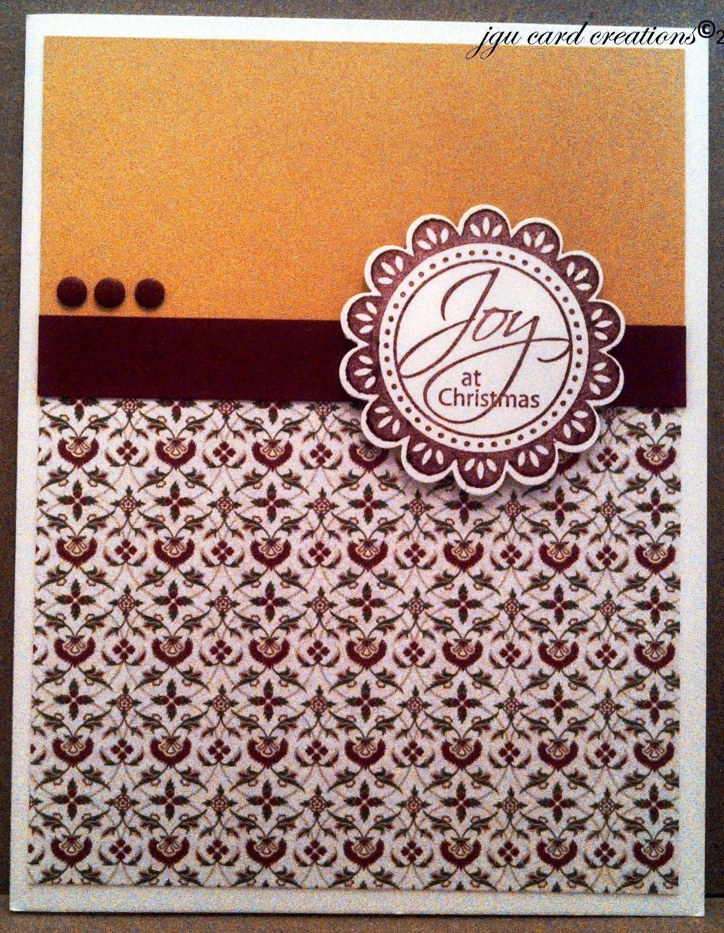 Clean & Simple Christmas Card.  Image is Stampin Up