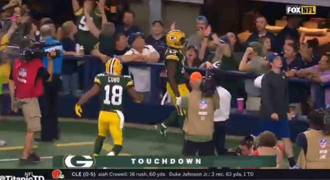 Aaron Rodgers' GameWinning TD To Defeat Cowboys Is Even