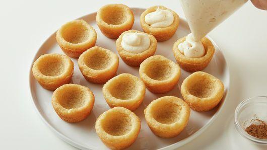 Eggnog Cheesecake Cookie Bites #eggnogcheesecake Eggnog Cheesecake Cookie Bites Recipe - Pillsbury.com #eggnogcheesecake