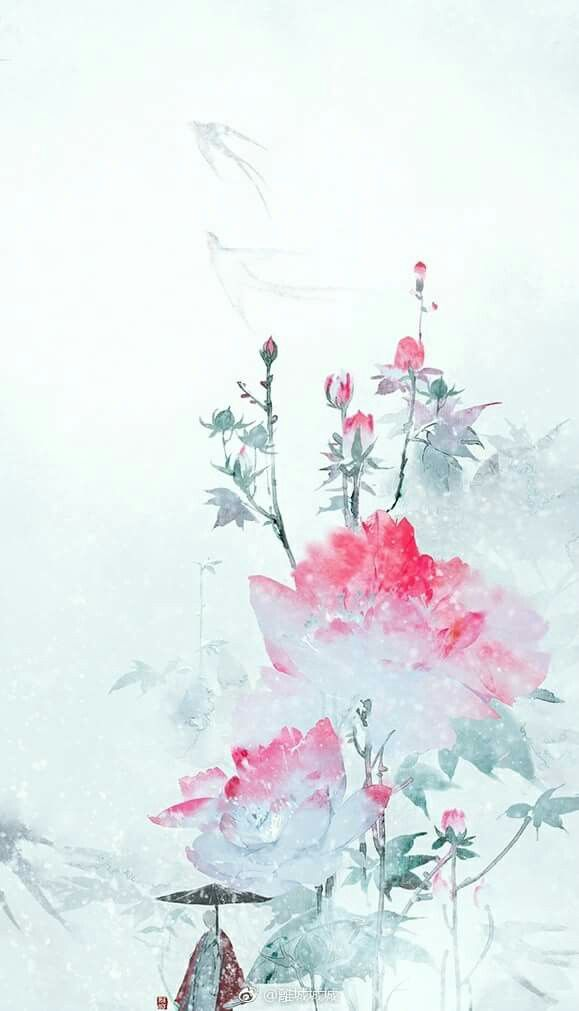 Wallpaper Iphone Asian Wallpaper Flower Art Watercolor Flowers
