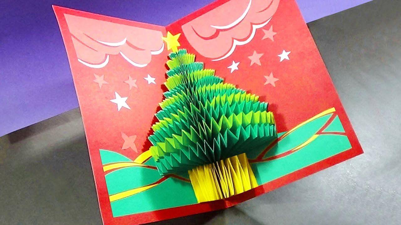 How To Make A 3d Christmas Pop Up Card Pop Up Christmas Cards 3d Christmas Cards Pop Up Flower Cards