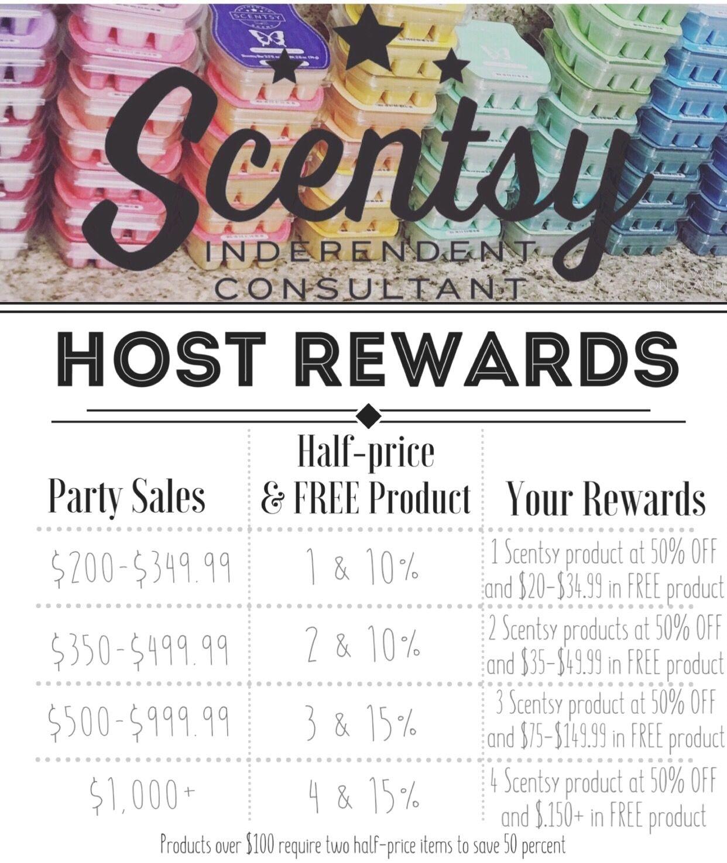 Scentsy Host Rewards. Scentsy Party Rewards. | Scentsy | Pinterest ...